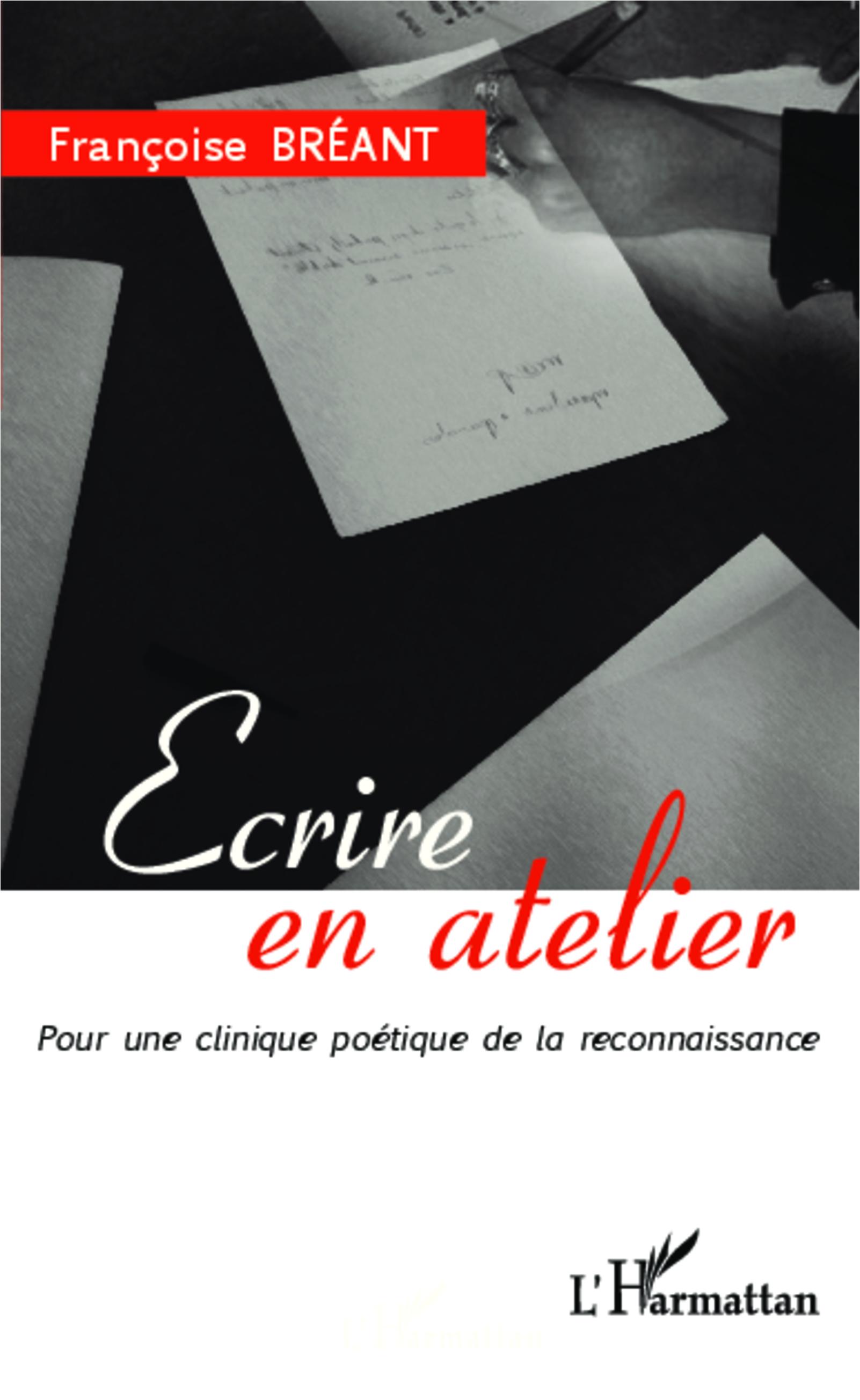 Couverture Ecrire en atelier Bréant 2014